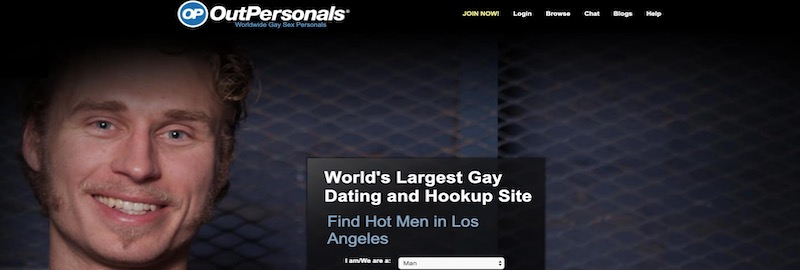outpersonals homepage screenshot