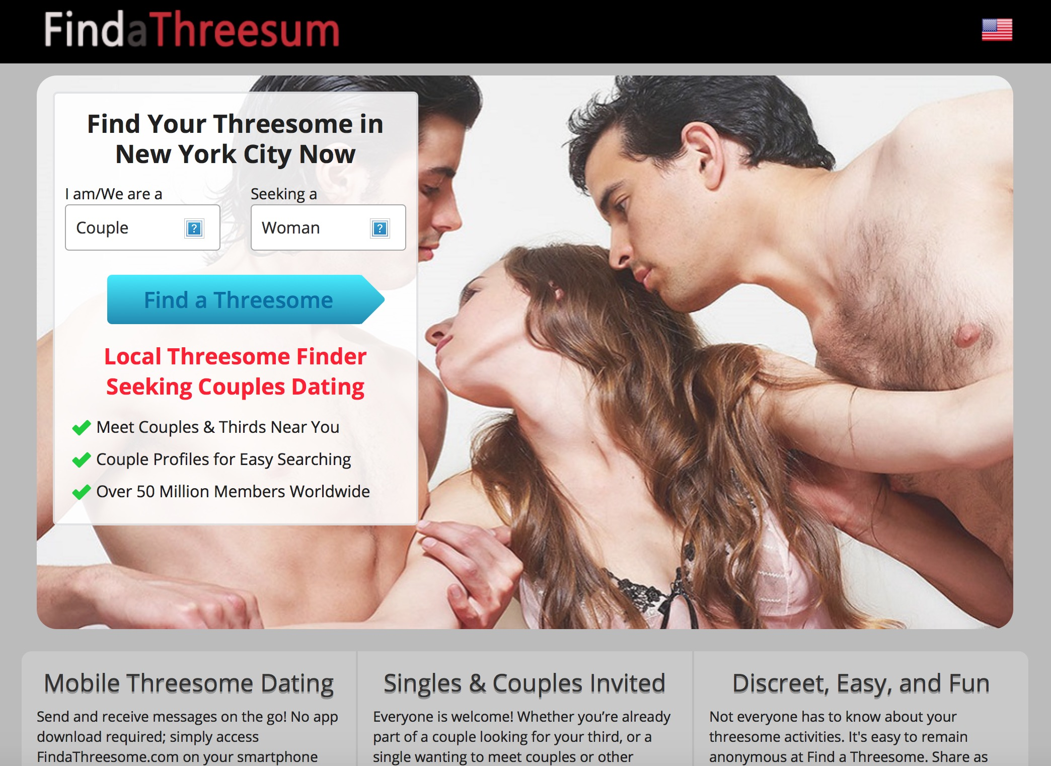 Find a Threesome Homepage
